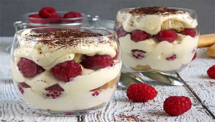 Raspberry Tiramisu Bites This Dessert is sophisticated, EXTREMELY easy! The filling can be prepared several hours before your party and ready for assembly 2 hrs prior!