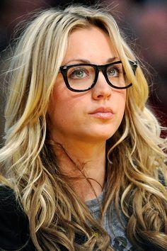 Black Glasses Blonde Hair Google Search Glasses
