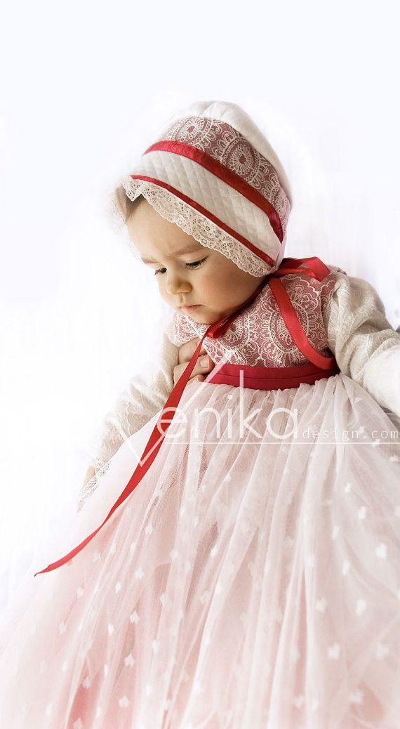 Christmas baby dress with child's vest fluffy by MonikaVenika