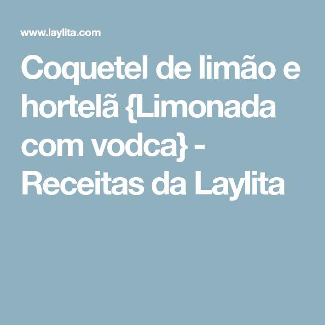 Coquetel de limão e hortelã {Limonada com vodca} - Receitas da Laylita