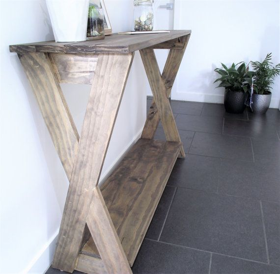 """Rustic console table """"X legs"""""""
