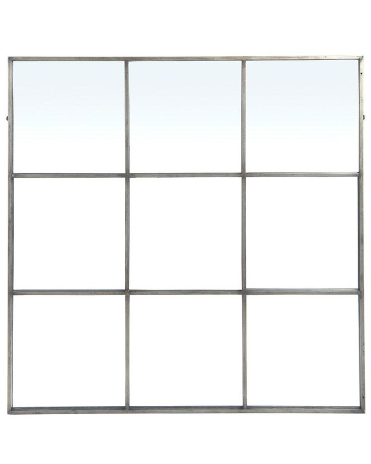 mirrordeco.com — Large Window Frame Mirror - Antique Silver Frame W:118cm