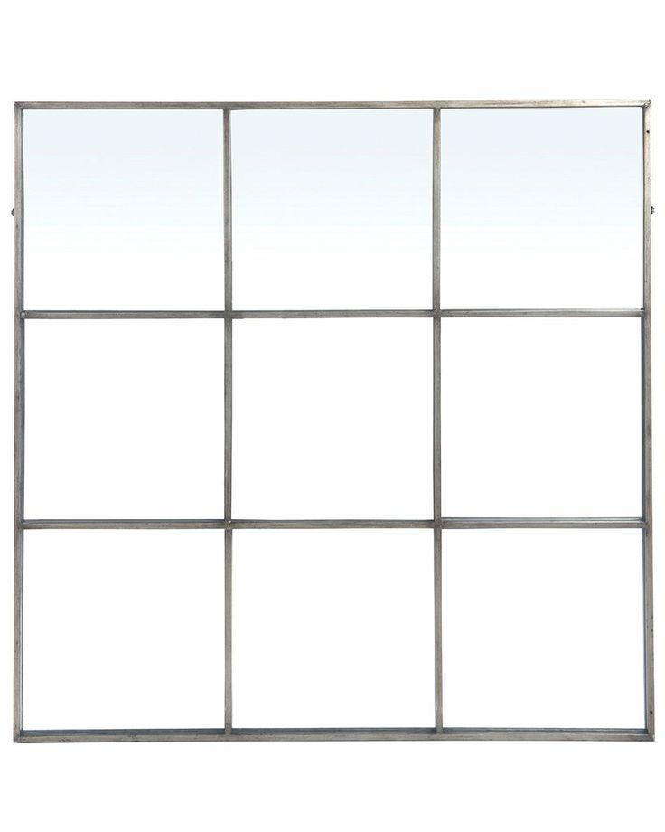 mirrordeco.com — Large Window Frame Mirror - Antique Silver Frame W:118cm