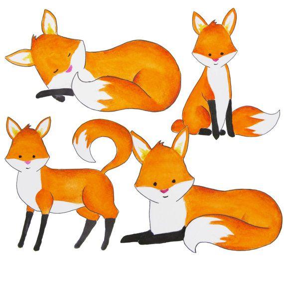 Akvarell róka előfizetői, rókák előfizetői, vörös róka clip art, erdő állati előfizetői, Fox illusztráció, rókák illusztráció, Fox óvoda művészeti