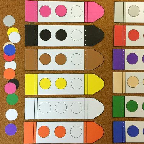 Crayon color match for preschool and kindergarten.