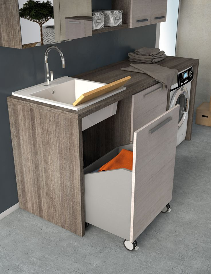 Mobile lavanderia con lavatoio LAVANDERIA 6 Collezione Urban by LEGNOBAGNO