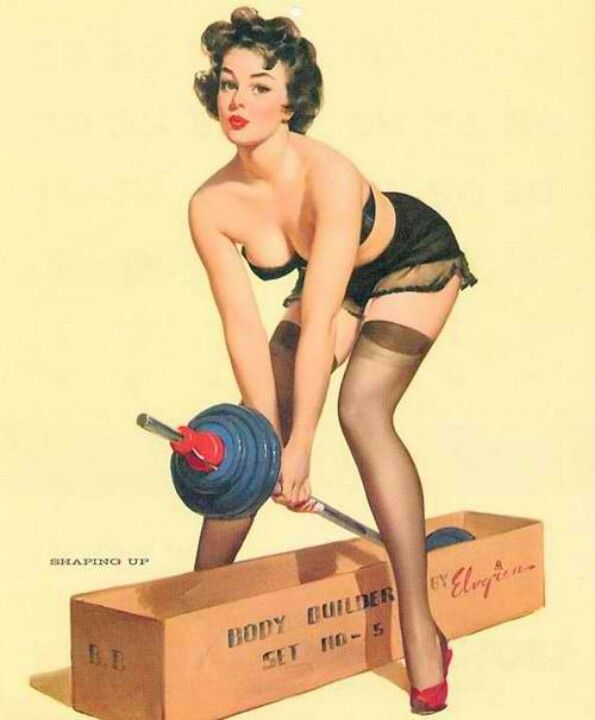 Body builder pin up