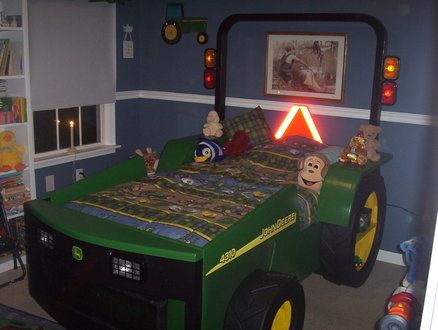 boys room john deere tractor bed someday thats gonna be my kids bed awesome