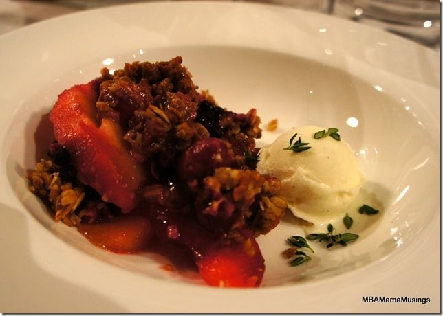 Jamie Oliver Heart -Warming Apple and Berry Crisp