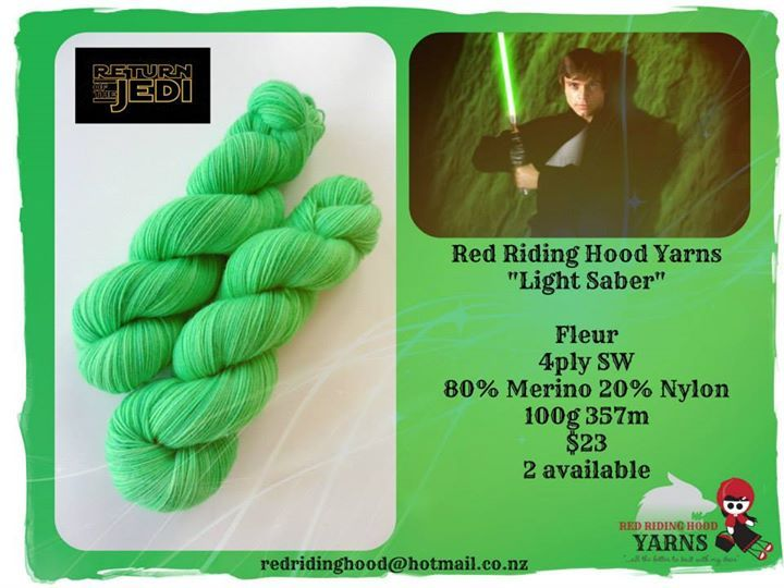 """Light Saber - for Yarnification """"I love the 80's"""" showcase 