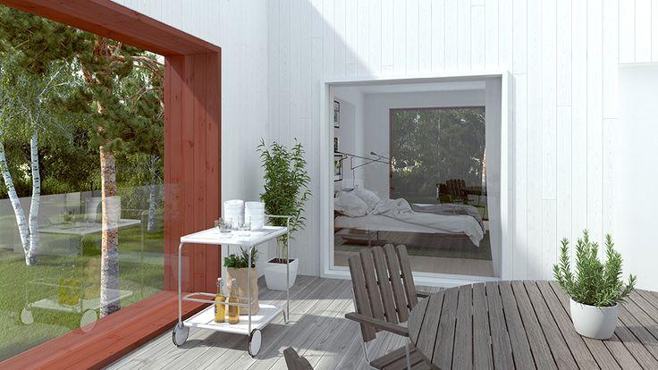 Sveriges mest klickade hem har en dold takterrass som erbjuder det bästa av två världar. En solig uteplats som också är skyddad från vind och insyn. HemnetHemmet är byggt av 200 miljoner klick på Hemnet. Utforska hela huset och berätta vad du tycker om hemmet som flest vill ha mest.