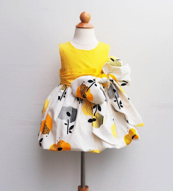 Flower Girl Dress  With large handmade flower by KKchildrendesigns, $82.00