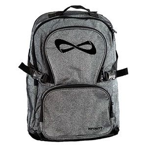 Nfinity Sparkle Backpack - Grey/Black with FREE Bag Tag! by Cheerleading Company