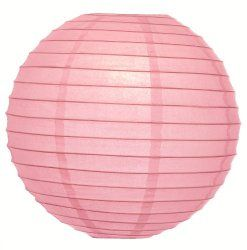 "WeGlow International 12"" Deluxe Paper Lantern - Light Pink (3 Pieces) - Paper Lanterns with Lights"