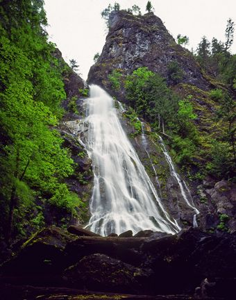 Rocky Brook Falls on Hood Canal Washington State | Olympic Peninsula Waterfall Trail