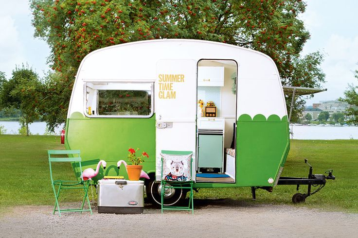 DIY blogger Jolie Dionne took her summer on the road by revamping an old camper–for less than $1000!