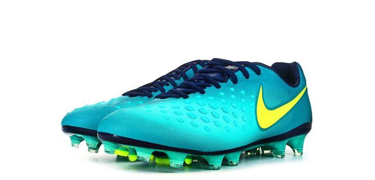 Botas de fútbol Nike Magista Opus II FG - Verde Azulado - perspectiva conjunto