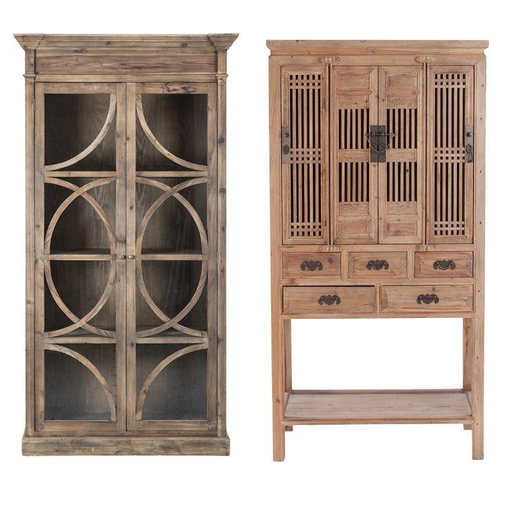 Vitrinas de madera de olmo viejo muebles pinterest - Muebles lola derek ...