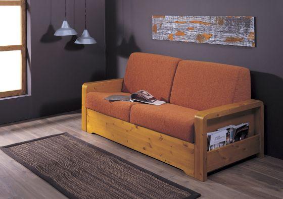 #Divano letto in legno massiccio. Comodo, pratico, in pino ecologico, ideato da Demar Mobili. #mobili #arredamenti #divani #salotti #mobilipino www.demarmobili.it