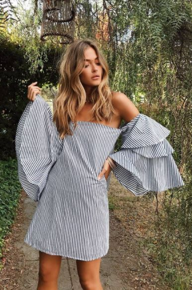 stripes and bell sleeves are two of my favorites for summer