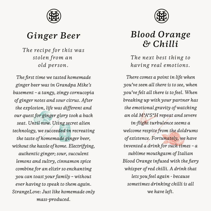 Copy by Marx Design for Australian organic energy drink brand StrangeLove.