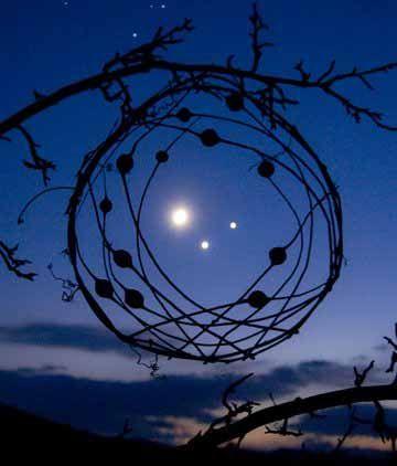 Moon, Venus, and Jupiter conjunct.