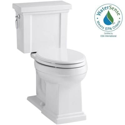 KOHLER Tresham Comfort Height 2-piece 1.28 GPF Elongated Toilet with AquaPiston Flush Technology in White