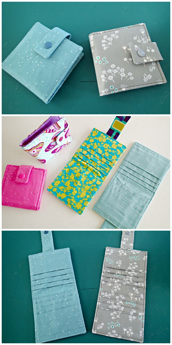 Learn how to sew wallets.  3 patterns included and the video tutorials show you every step of the way. Lots of great sewing tips to get the best results.