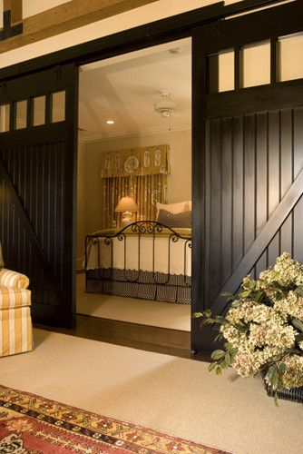 Gorgeous! Love the black sliding barn doors, but would never work in the current house.
