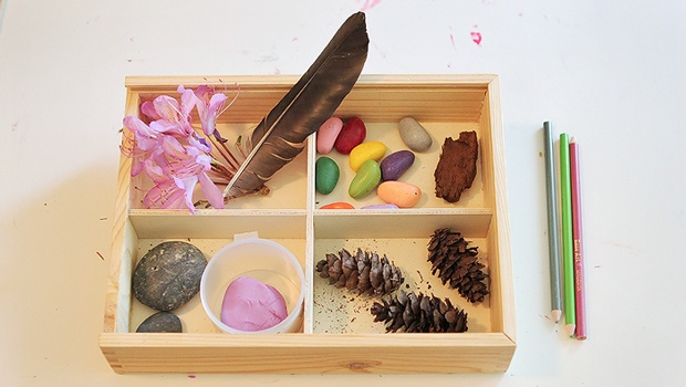 Valentine Crafts For Kids Using Natural Materials