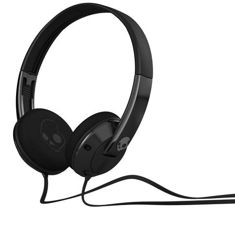 Skullcandy - Uprock Headphones w/Mic - Black/Black