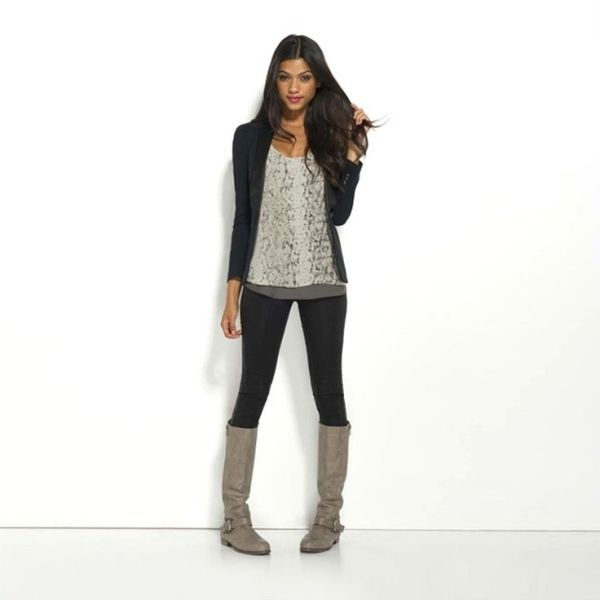grey boots womens outfit - Google Search - 17 Best Images About Grey Boots On Pinterest