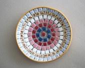 Round Vintage Mosaic Dish: Century Mosaics, Vintage Mid, Vintage Mosaics, Mosaics Dishes, Round Vintage, Mosaics Tile