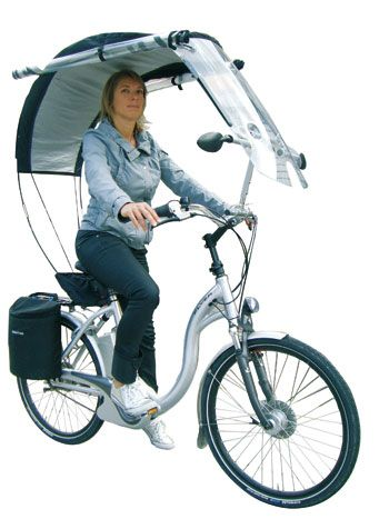 """All weather (sun or rain). ~ The plastic sides roll down for protection from the rain. ~ Miks' Pics """"Bikes, Trikes and Unicycles l"""" board @ http://www.pinterest.com/msmgish/bikes-trikes-and-unicycles-l/"""