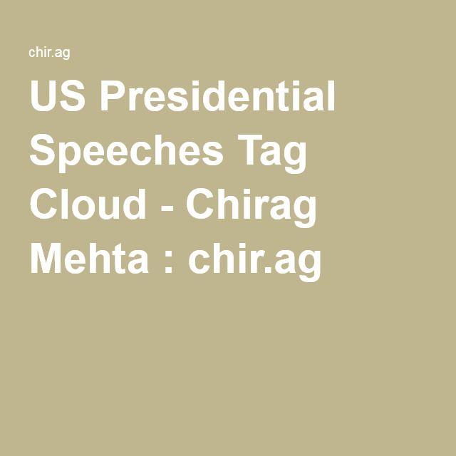 US Presidential Speeches Tag Cloud - Chirag Mehta : chir.ag