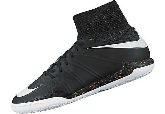 Nike Kids HypervenomX Proximo Street Indoor Shoes - Black and Grey ...