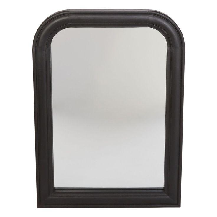 Miroir Cheminee Osmann Bois Noir 70 X 50 Cm Miroir Cheminee