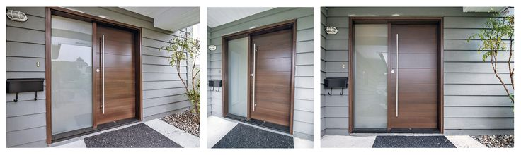 A beautiful Westeck Elite Wood Exterior Door Installation with sidelite in sunny #Richmond BC - by Authentic Installations Inc.