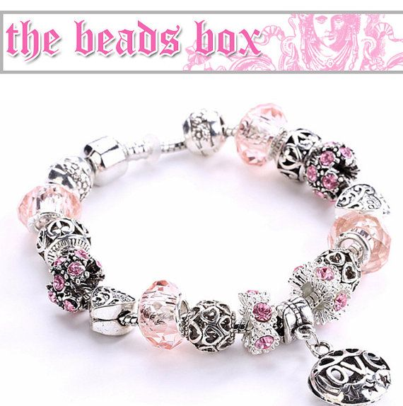 AA-03 Bracelet 925 Sterling Silver Daisies Murano by TheBeadsBox