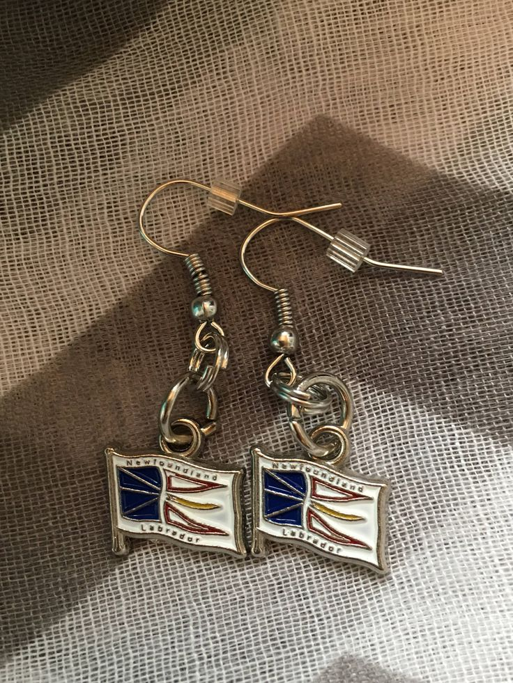 Handmade - Charm Earrings - NL Charm - Fishhook Earrings - Charm Jewelry Earrings - Newfoundland and Labrador - Salty Air Inspirations by SaltyAirInspirations on Etsy https://www.etsy.com/ca/listing/551543069/handmade-charm-earrings-nl-charm
