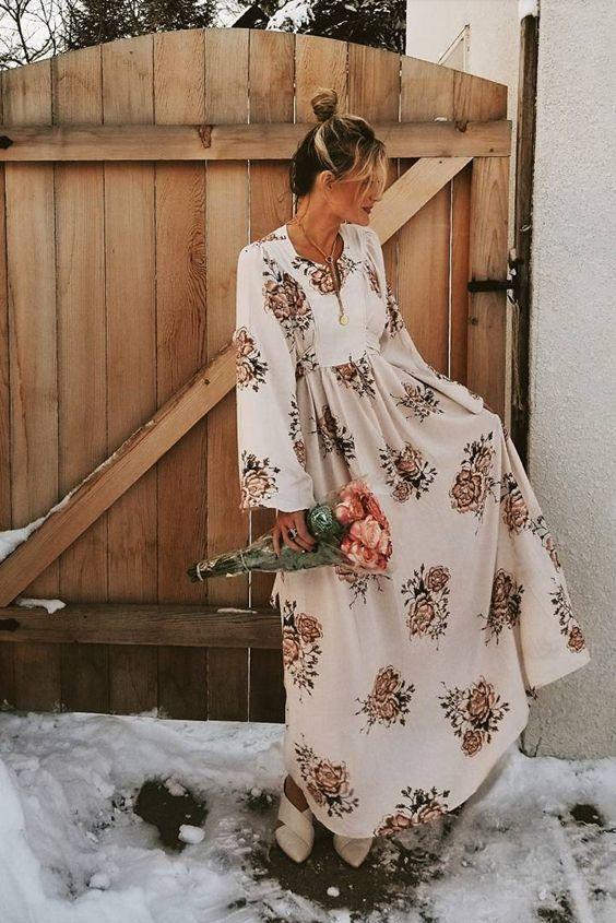 cebe3ff7bed40f Self Tie Floral Kimono Maxi Dress   ᴅʀᴇᴀᴍ ᴡᴀʀᴅʀᴏʙᴇ in 2019 ...