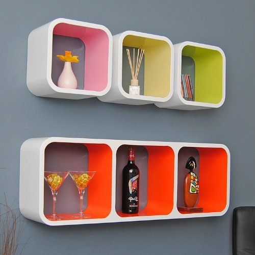 Yellow Cube Shelves : shelf on Pinterest White shelving unit, Wall mounted  shelf and