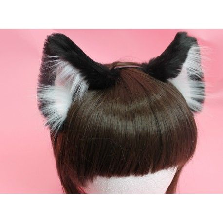 All of our ears have wire inside,so you can bend them any way you'd like! The ears also have elastic at the base,so you can adjust the spacing along the headband. You can purchase bows,rhinestones,and other add onsHERE