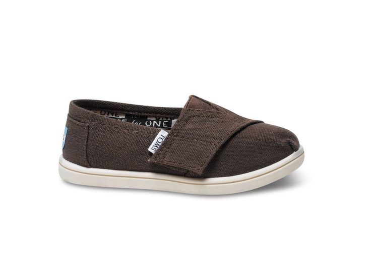 undefined Chocolate Canvas Tiny TOMS Classics