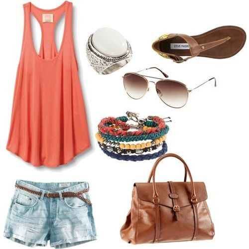 Beach outfit. I need tanks for sure. And a new pair of aviators!: Summer Fashion, Summer Style, Dream Closet, Summeroutfits, Spring Summer, Summer Outfits, Summertime, Summer Clothes, Summer Time