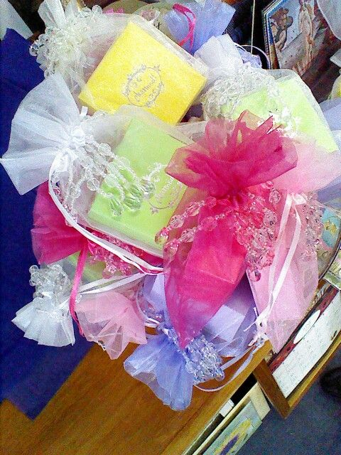 Pretty boxed soap gift bags