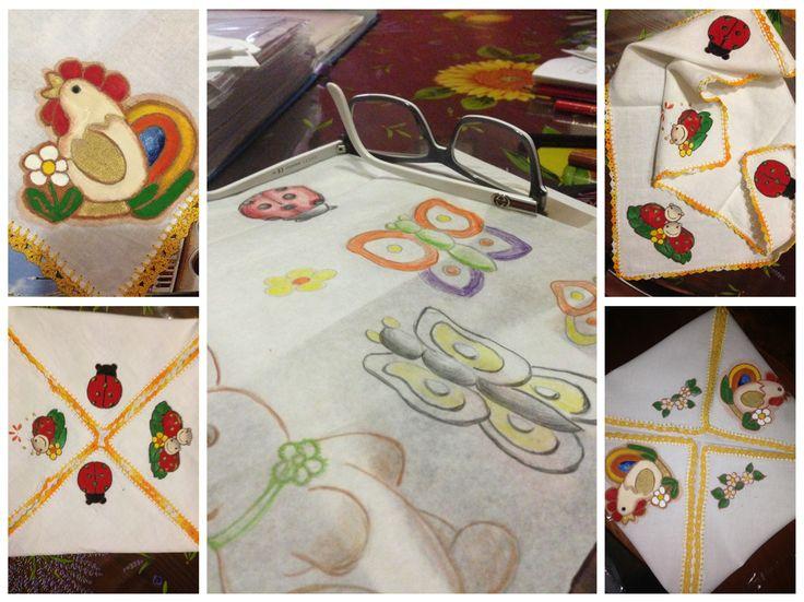 Pittura su stoffa Handmade soggetti Thun