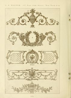 Catalog of Capitals, brackets and compo ornamen...