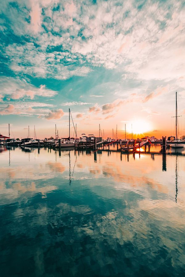 """""""Marina Sunset"""", by Hayden Scott. Gorgeous matte filter really elevates this photo"""