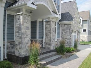 Exterior Stone Siding and Hardie Board - traditional - exterior - chicago - by North Star Stone